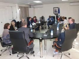 iciHaïti - Diplomatie : Une délégation allemande rend visite au Ministre de la Justice