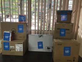 iciHaïti - Minujusth : Don de 63,000 dollars d'équipements d'appui au Ministère de la justice
