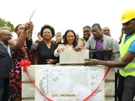 iciHaiti - Tourism : Laying the first stone of the Place d'Armes of Aquin