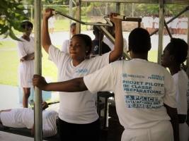 iciHaïti - PNH : 60 femmes s'entraînent pour les épreuves physiques