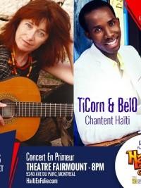 iciHaïti - Diaspora : Concert en primeur «TiCorn & BélO chantent Haïti»
