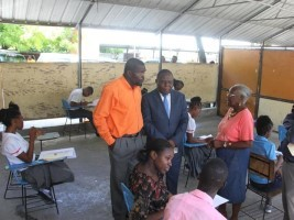 iciHaiti - Education : Minister Cadet's Tour in the Examination Centers