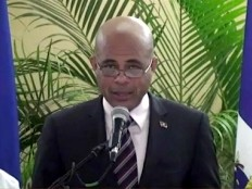 Haiti - Politic : Press conference of Michel Martelly