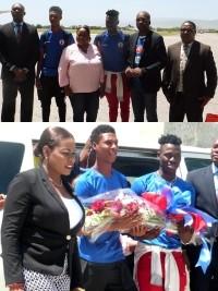 iciHaïti - Gold Cup 2019 : Le Ministre Charles accueille 3 de nos Grenadiers