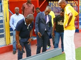 iciHaïti - Football : J-10, suivi des travaux au stade Sylvio Cator