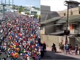 Haiti - FLASH : Residence of the President, the police prevents the protesters