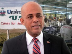 Haiti - Reconstruction : Michel Martelly today in the North-East