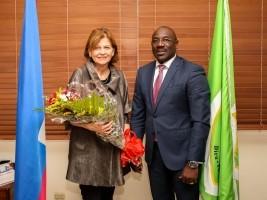 iciHaïti - Delmas : Le Maire Jeudy a reçu la Cheffe de la BINUH