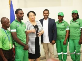 iciHaiti - Health : Minister Marie Greta Roy Clément, honored by the CAN