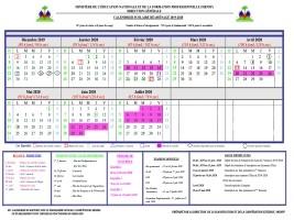 Calendrier Scolaire 2019 Et 2022 Education Nationale Haïti   FLASH : Calendrier scolaire réaménagé (Officiel