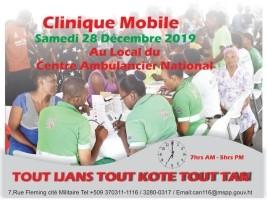 iciHaïti - AVIS : Clinique Mobile au local du Centre Ambulancier National