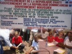 Haiti - Environment : Launching of the project of reforestration at the border