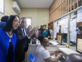 Haiti - Technology : Inauguration of the MIDAS computer system at the border crossing of Malpasse