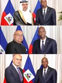 Haiti - Diplomacy : 3 new accredited ambassadors