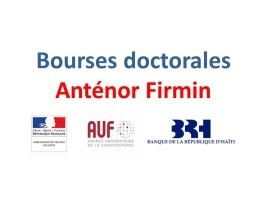 Haiti - France : Anténor Firmin doctoral mobility scholarships, call for applications