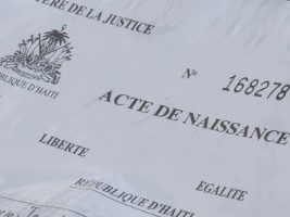 iciHaiti - Politic : Free birth certificates, billed by registrars