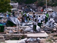 Haiti - Social : Martelly has nothing to do with the destructions of camps in Delmas