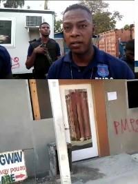 iciHaiti - Petit-Goâve : The municipal police closes the doors of the Town hall