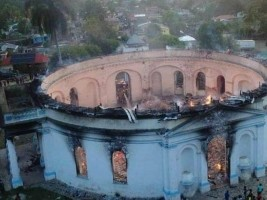 Haiti - FLASH : The royal chapel of Milot, world heritage destroyed by fire