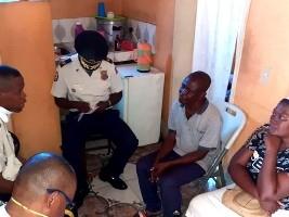 iciHaïti - PNH : Visite aux parents de Watson Fortuné tué dans l'exercice de ses fonctions