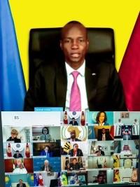 Haïti - COVID-19 : Intervention du Président Moïse a une visioconférence international de haut niveau