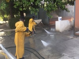 iciHaiti - Covid-19 : Disinfection of public buildings and spaces