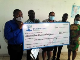 iciHaiti - Petit-Goâve : Donation from the Réginald Boulos Foundation to Notre-Dame hospital