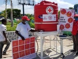 iciHaïti - Covid-19 : Installation de postes de lavage des mains