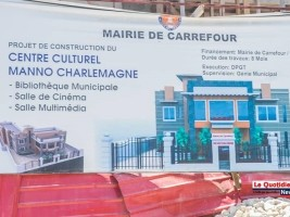 iciHaiti - Carrefour : Construction of the Emmanuel Charlemagne Cultural Center