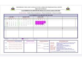 Haïti - FLASH : Calendrier scolaire révisé officiel (2019-2020)