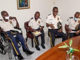 iciHaïti - Politique : Partenariat avec le BSEIPH au bénéfice des policiers handicapés
