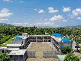 iciHaïti - Petit-Goâve : La construction du Lycée Roseline Vaval achevée à 75%