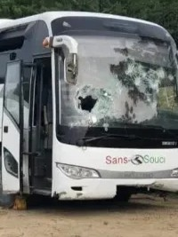 iciHaiti - Insecurity : A bus «Sans souci» targeted by bandits