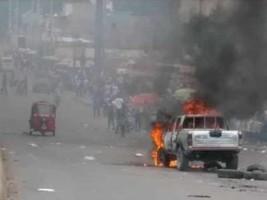 iciHaiti - Phantom 509 : A DINEPA vehicle set on fire