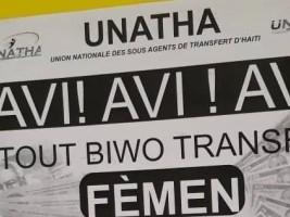 Haiti - FLASH : UNATHA announces the closure of all transfer offices of its members