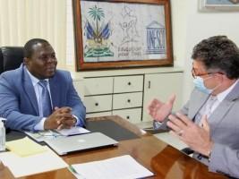 iciHaiti - Education : Successful meeting with the new UNICEF representative