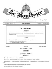 Haïti - Justice : Victoire de la Fédération des Barreaux d'Haïti sur l'Exécutif