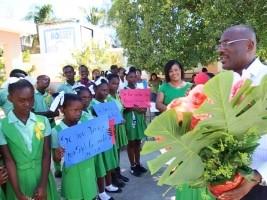 iciHaiti - Delmas : Mayor Jeudy visits 2 municipal schools