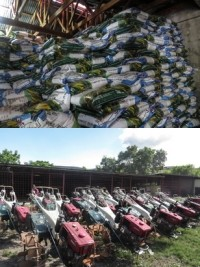 iciHaiti - Artibonite : Distribution of 20 tillers and 20,000 bags of fertilizer