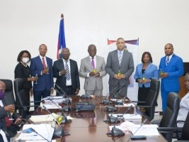 iciHaiti - Politic : Installation of 4 new executives at the Ministry of Planning