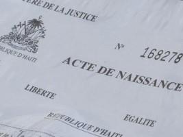 iciHaïti - Justice : Déclarations tardives de naissance, aucun frais à verser
