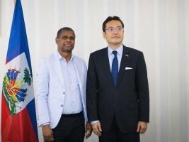 iciHaïti - Taïwan : Visite de l'Ambassadeur Wen-Jianm Ku au Ministre de l'intérieur
