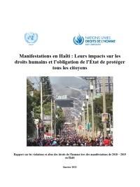 Haïti - Justice : Rapport de l'ONU sur les manifestations et violations des droits de l'homme en Haïti