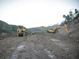iciHaïti - Politique : Suivi des travaux de la déviation de la grande rivière de Baradères