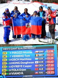 Haiti - World Ski Championships : Haiti ranks 35th in the Giant slalom