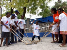 Haiti - Humanitarian : P.K. Subban, Georges Laraque visit children's hospital in Port au Prince