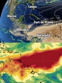 Haïti - ALERTE Météo :  Poussière de sable du Sahara et nuages de dioxyde de soufre