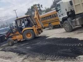iciHaïti - Croix-des-Bouquets : Important travaux d'asphaltage