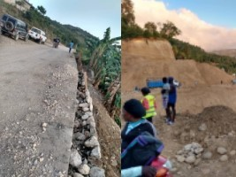 iciHaiti - Infrastructure : Monitoring of works on the Bassin-Bleu / Port-de-Paix road section