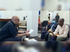 iciHaïti - Insécurité : Le Ministre de l'intérieur multiplie les séances de travail